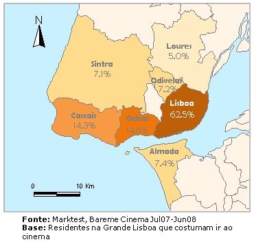 mapa de grande lisboa Pólos de atracção de cinéfilos diferem em Lisboa e Porto : Notícia  mapa de grande lisboa